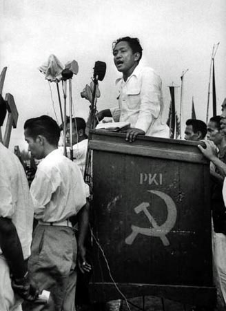 Dipa Nusantara Aidit principal dirigeant du parti Communiste d'Indonésie-1955