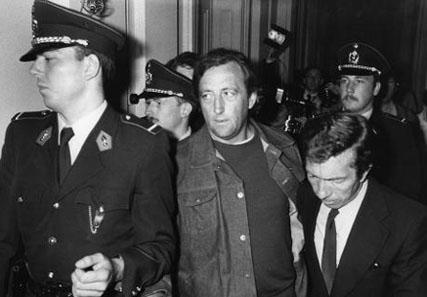 Septembre 1979 : Michel Graindorge photographié durant sa détention suite à l'évasion du truand français François Besse dont il était l'avocat