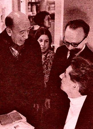 Bruxelles, 2 février 1970. Bob Claessens et Roger Somville lors de la sortie du livre