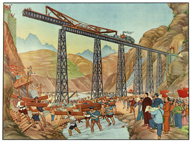 Construction du chemin de fer de Tianlan - 1952