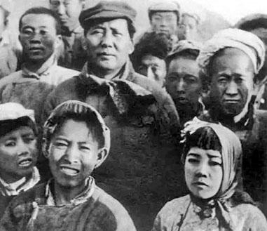 Mao Zedong dans les masses populaires