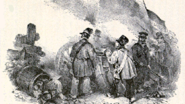 Les révolutionnaires canonnent les Hollandais