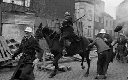 1962-Affrontements à Liège