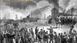 Mineurs face à l'armée à Seraing