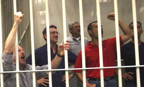 Les camarades à leur procès, au palais de justice de Milan