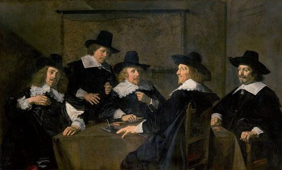 Frans Hals-portrait de groupe des régents de l'hopital sainte elisabeth