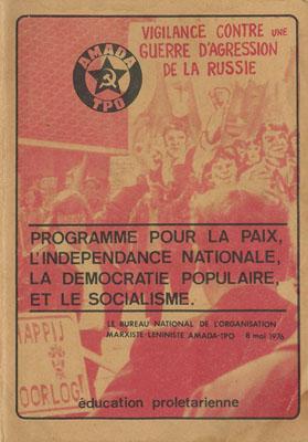 AMADA - TPO : Programme pour la paix, l'indépendance nationale, la démocratie populaire, et le socialisme