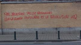 Chaulage anti-électoral a Bruxelles à proximité de la gare du Midi