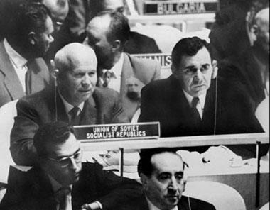 Khrouchtchev à l'ONU