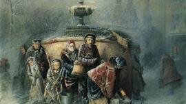 Vassili Perov-La queue au réservoir