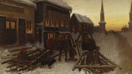 Vassili Perov-La dernière taverne à la porte de la ville