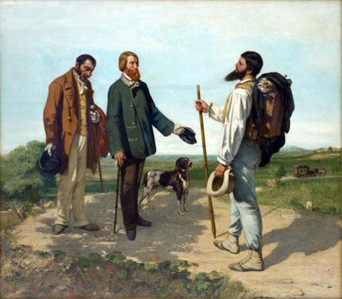 Bonjour Monsieur Gustave Courbet (1854)