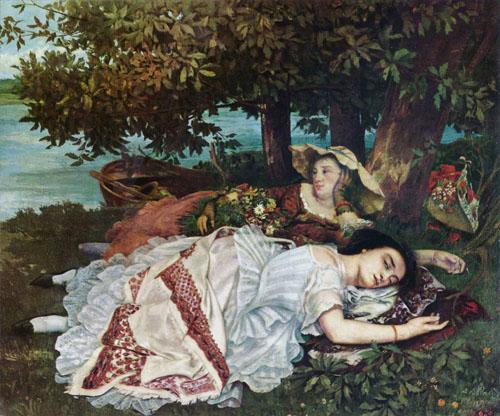 Les demoiselles des bords de la seine (1857)