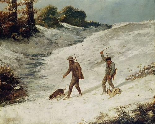 Braconniers dans la neige (1864)