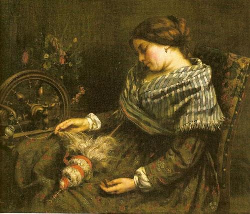 La fileuse endormie (1853)