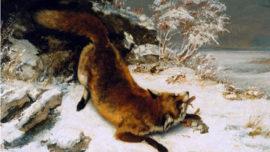 Renard dans la neige (1860)