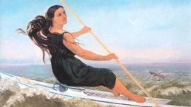 La Femme au Podoscaphe (1865)