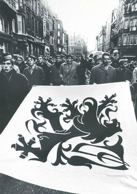 Leuven 1968, manifestation étudiante