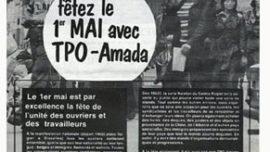 Appel pour le 1er mai TPO - AMADA