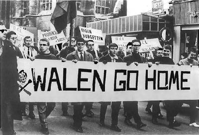 Leuven 1966, manifestation des étudiants nationalistes flamands