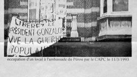 Occupation de l'ambassade du Pérou en soutien au PCP et à la Guerre populaire - Bruxelles, le 11 mars 1993