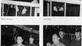 """Procès de la """"Bande des quatre"""" : Zhang Chunqiao, Kiang tsing, Wang Hongwen, Yao Wenyuan,"""