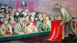 Forces murales (Louis Deltour, Edmond Dubrunfaut, Roger Somville) Premier congrès du Parti Communiste, 1921. Détrempe à l'acrylique sur toile - 1951