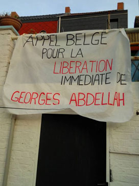 """alicot de l'""""Appel belge pour la libération de GIA"""". Relevons ici l'erreur dans le patronyme du militant emprisonné"""
