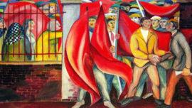 """Forces murales (Louis Deltour, Edmond Dubrunfaut, Roger Somville) """"A Herstal en 1936"""""""