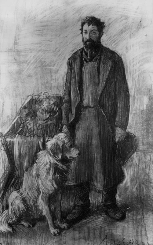 André Collin - Homme au chien