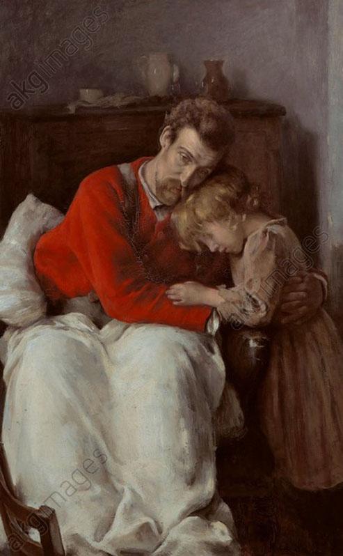 André Collin - Le père malade - heure de tristesse