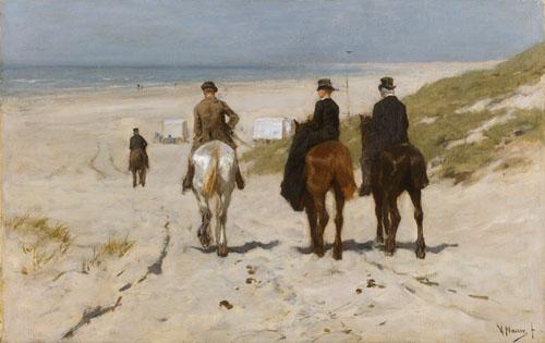 Anton Mauve - Chevauchée matinale sur la plage