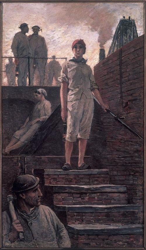 Constantin Meunier - Hiercheuse descendant à la fosse
