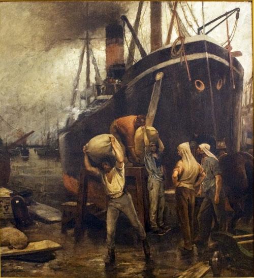 Constantin Meunier - Le port