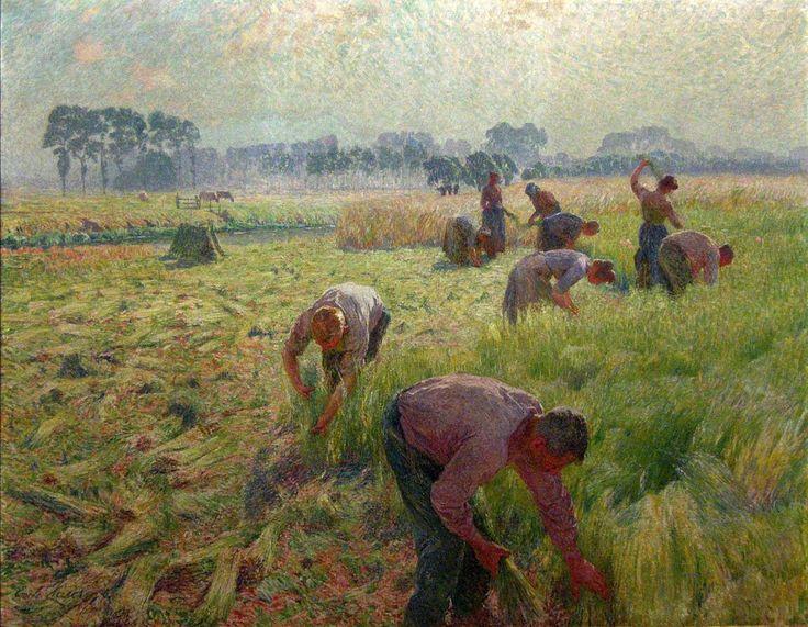 Émile Claus - De vlasoogst (La récolte du lin)