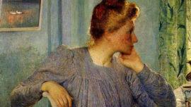 Emile Claus - Le portrait de Madame Claus