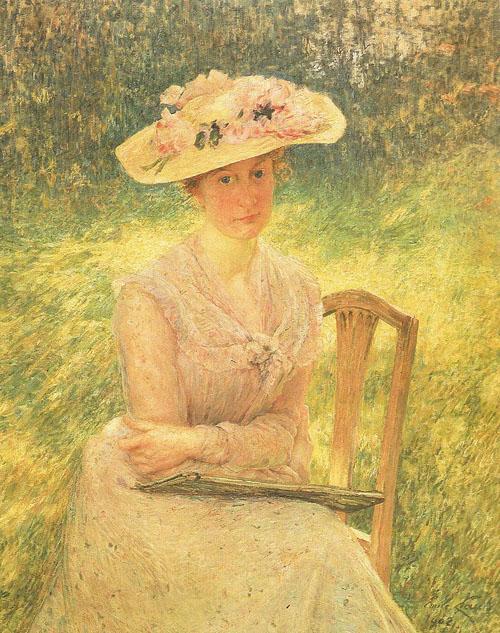 Émile Claus - Portret van Jenny Montigny (Portrait de Jenny Montigny)