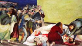 """Forces murales (Louis Deltour, Edmond Dubrunfaut, Roger Somville) """"Roux, 1886"""""""