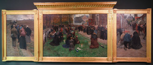 Frans Van Leemputten - De kaarskensprocessie te Scherpenheuvel (La procession aux chandelles à Scherpenheuvel)