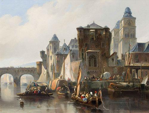 Johannes Bosboom - Une vue de Coblence