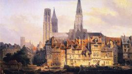 Johannes Bosboom - Une vue du quai de Paris à Rouen