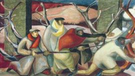 """Forces murales (Louis Deltour, Edmond Dubrunfaut, Roger Somville) """"La Résistance en 1940-1945"""""""