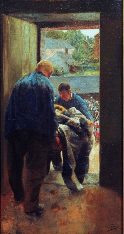 Léon Frédéric - Le paysan mort