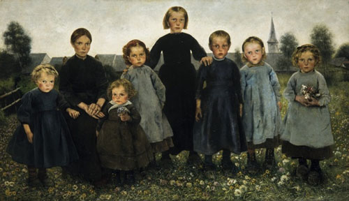 Léon Frédéric - Les Âges du paysan : Les fillettes