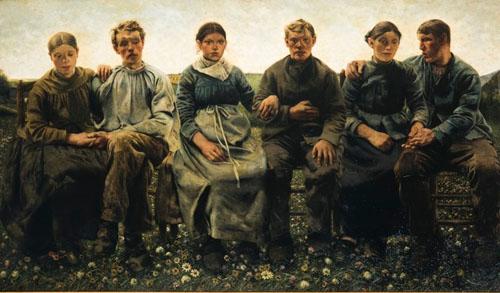 Léon Frédéric - Les Âges du paysan : Les promis