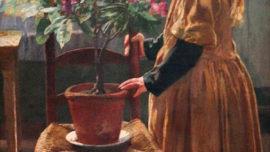 Léon Frédéric - Rhododendron en fleur