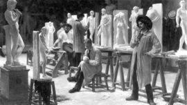 Louis Pion - Atelier van de beeldhouwer (L'atelier du sculpteur)