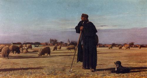 Louis Pion - Herder met zijn kudde (Berger avec son troupeau)