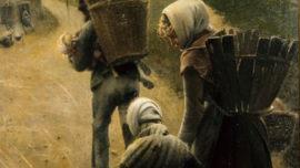 Léon Frédéric - Les marchands de craie (Volet droit : Le soir)