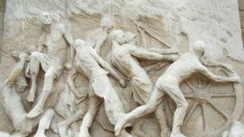 """Monument au Travail - fresque """"Industrie"""""""